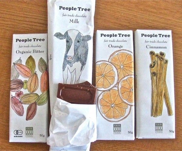 People Tree Chocolate bar packaging design
