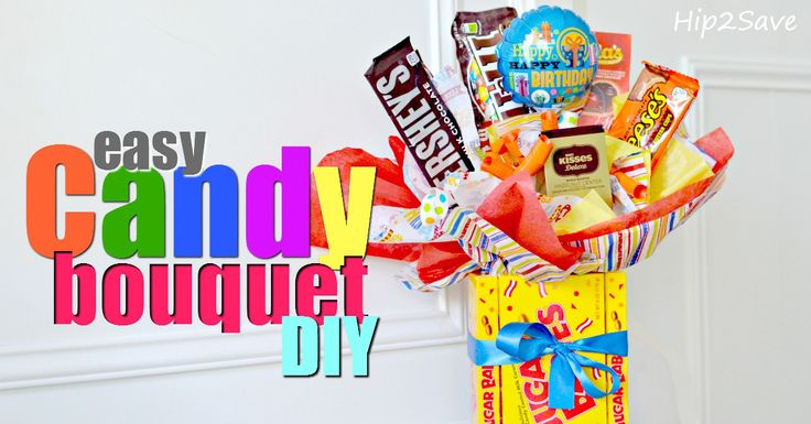 Easy Candy Bouquet DIY