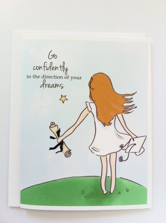 Graduation Card - Congratulations Card - Follow Your Dreams Cards - Cards for Girls and Women