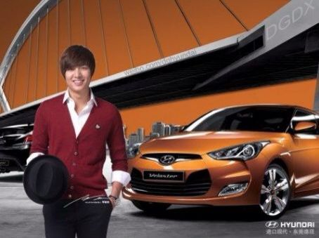 Pictures of Lee Min Ho for Hyundai Veloster