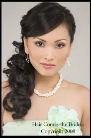 Wedding hair with my flower on the ponytail side