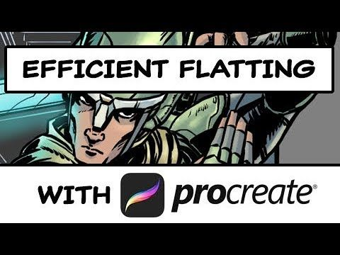 How to Efficiently Flat Colors in Procreate - YouTube