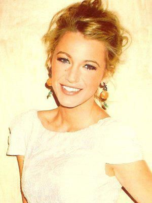 Blake Lively...sexy just got out of bed after having an amazing time hair...now just add a little Nars Orgasm blush!!
