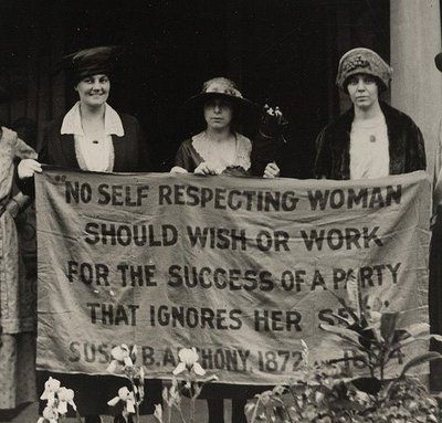 """No self respecting woman should wish or work for the success of a party that ignores her sex."""