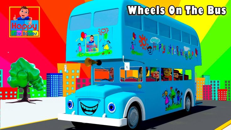 Wheels On The Bus Go Round And Round | Happy Little Babies Nursery Rhymes