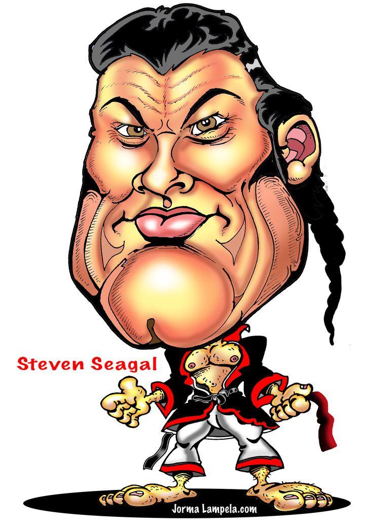 karikatyyri caricature steven seagal  steven seagal
