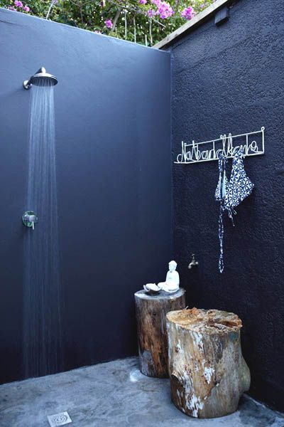 Outdoor ShowerBathroom Design, Outside Shower, Ideas, Outdoorshower, Outdoor Showers, Interiors Design, House, Trees Stumps, Outdoor Bathroom