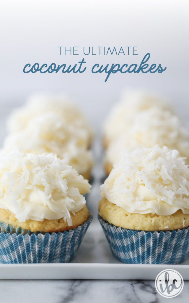 The Ultimate Coconut Cupcakes dessert recipe   Inspired by Charm