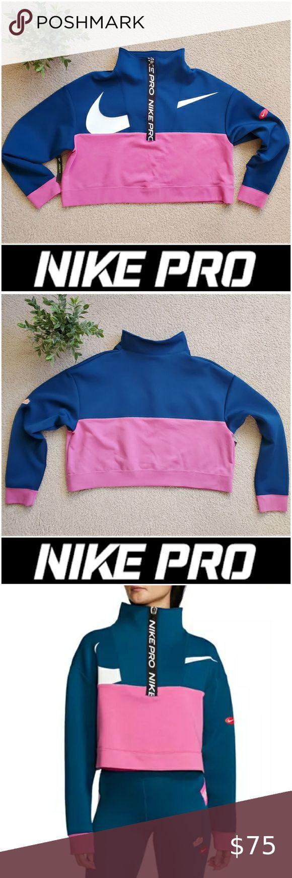 Nike Pro Icon Clash HalfZip Crop Jacket L in 2020