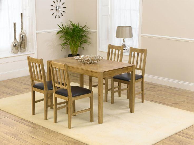 Casa Oak Dining Table  120cm U0026 4 Casa Oak Dining Chairs Great Ideas