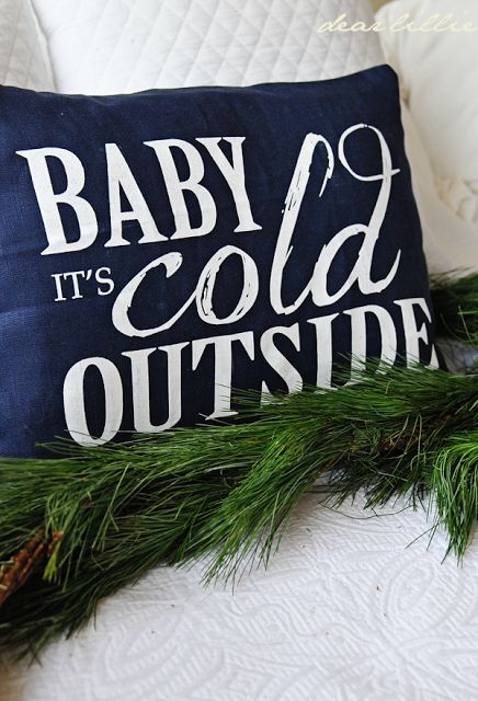 Baby It\u0027s Cold Pillow Cover in Navy -- Dear Lillie & 222 best Christmas Pillows images on Pinterest | Christmas pillow ... pillowsntoast.com