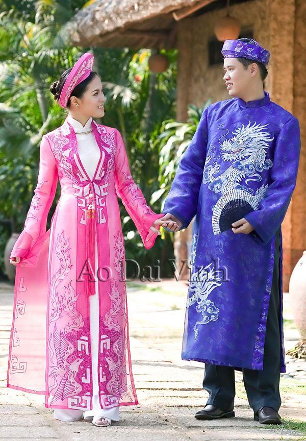 ao dai male and female version ao dai , Vietnam Pinterest