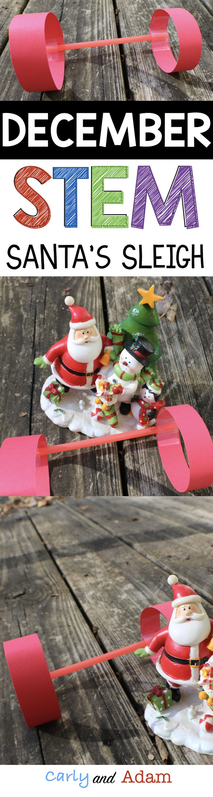 For this Christmas themed STEM activity students must build Santa a wind powered sleigh!