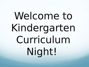 Curriculum Night Power Point- Editable for YOUR class!