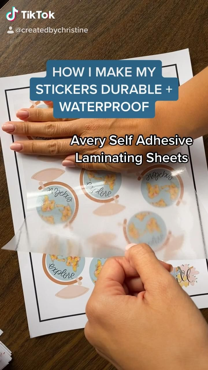 How to waterproof your stickers video cricut business