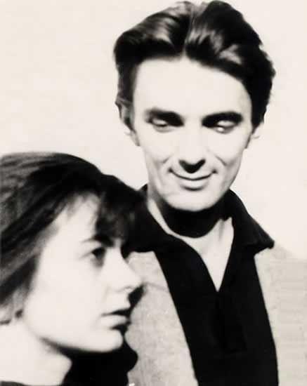 Scriitoarea Ana Blandiana și soțul său, scriitorul Romulus Rusan, in anii '60.
