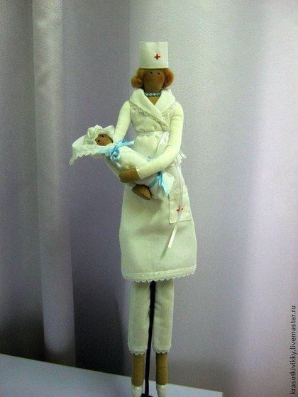 Куклы Тильды ручной работы. Ярмарка Мастеров - ручная работа Акушерка Алла. Handmade.