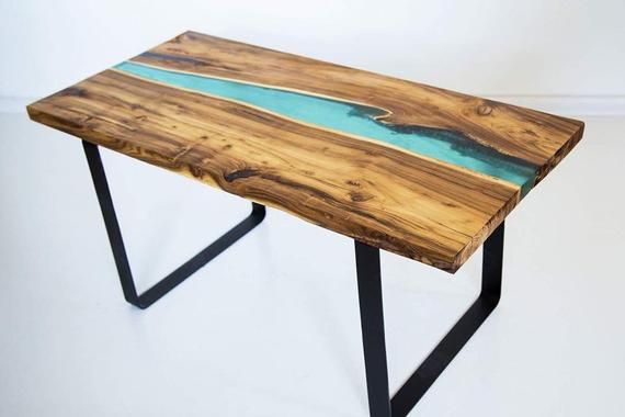 Blue resin table,Dining table,Epoxy table,Resin dining table,Epoxy resin table,Resin furniture,Dining table legs metal,Wood epoxy table