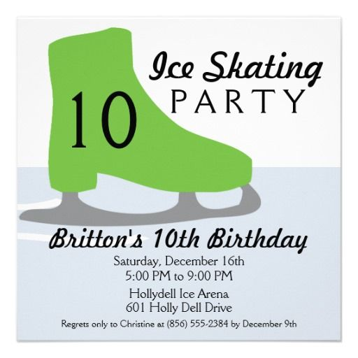 17 best Ice Skating Birthday Party Invitations images on Pinterest