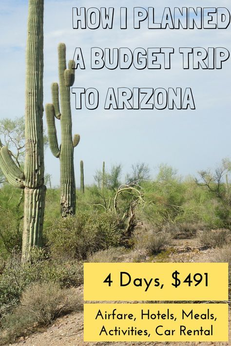 Yes, you can travel on a budget! These smart strategies helped me travel to Arizona for less than $500. Read more at http://thegirlandglobe.com/earn-dont-burn/