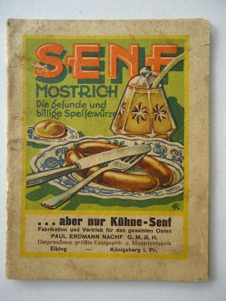 Senf, in Ostpreußen auch MOSTRICH genannt
