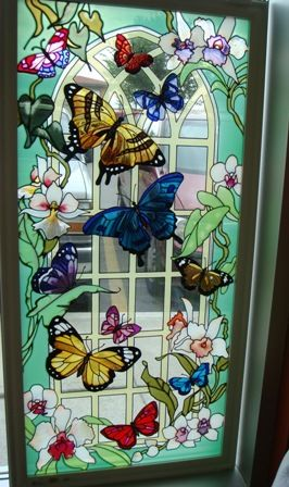 Butterfly designs for glass painting - photo#45