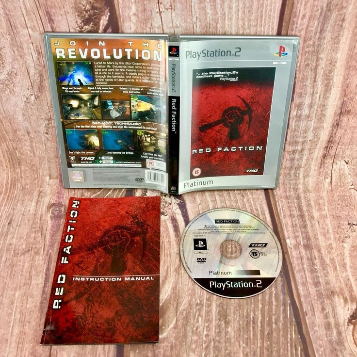 PS2 Playstation 2 Pal Game RED FACTION with Box Instructions Platinum Complete