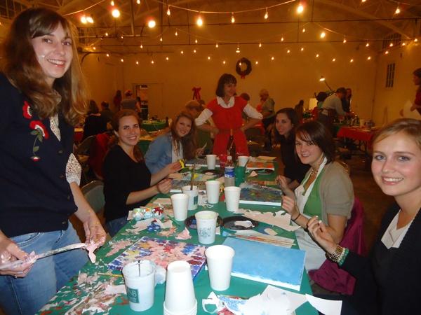 """Paint a Memorable Christmas""  12/20/2013  Studio 209"