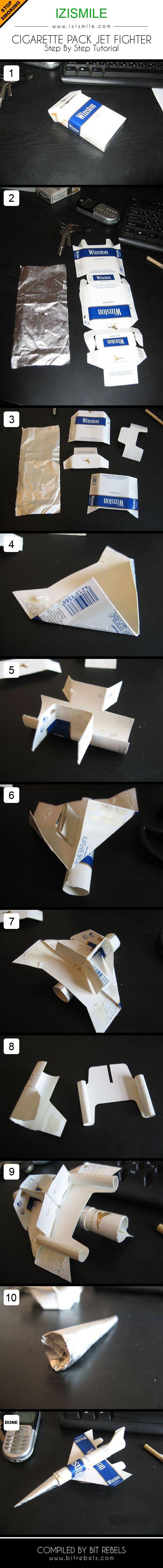 caja de cigarros avion