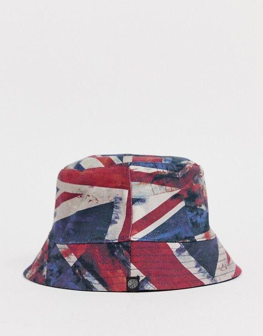 Pretty Green union jack print reversible bucket hat  3d1cb8c3787d