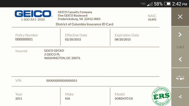 Car Insurance Card Template In 2020 Card Template Id Card
