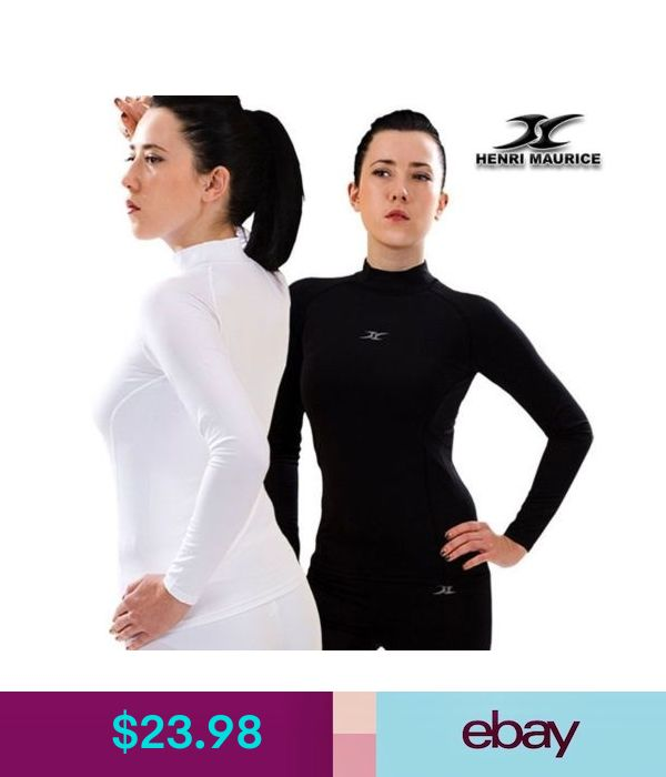 Womens Long Sleeve Compression Shirt  Base Layer with Functional Fabric LG