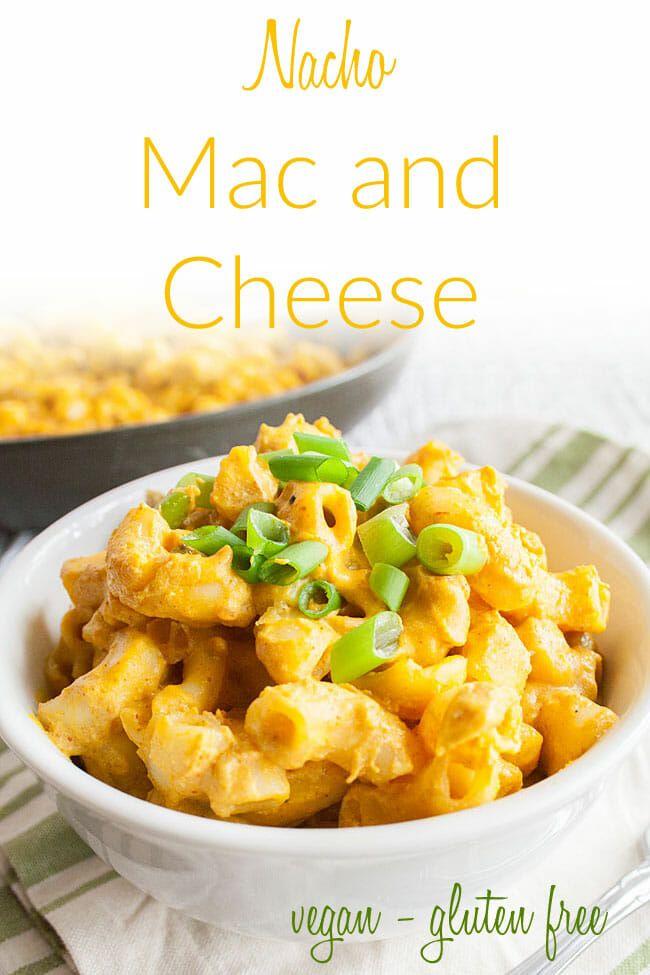 Nacho Mac And Cheese Vegan Gluten Free This Simple Nut Free Vegan Mac And Cheese Is Rich Creamy In 2020 Mac And Cheese Vegan Lunch Recipes Vegan Recipes Healthy