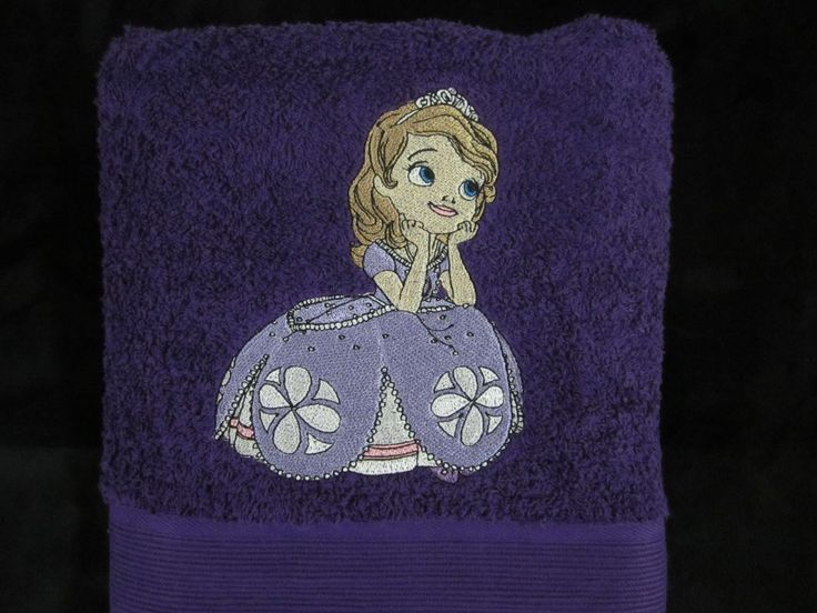 Sofia the first embroidery at towel