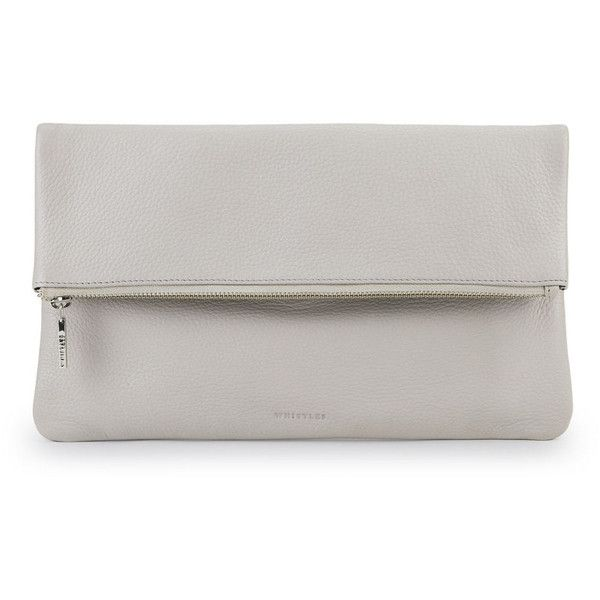 Whistles Foldover Zip Clutch found on Polyvore
