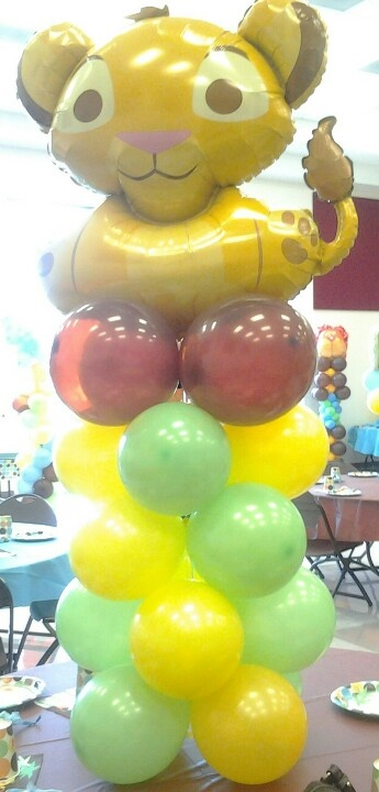 King of the jungle baby shower balloon decoration