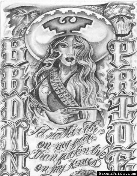 Brown pride artwork by bigg shadow prison pinterest - Brown pride drawings ...