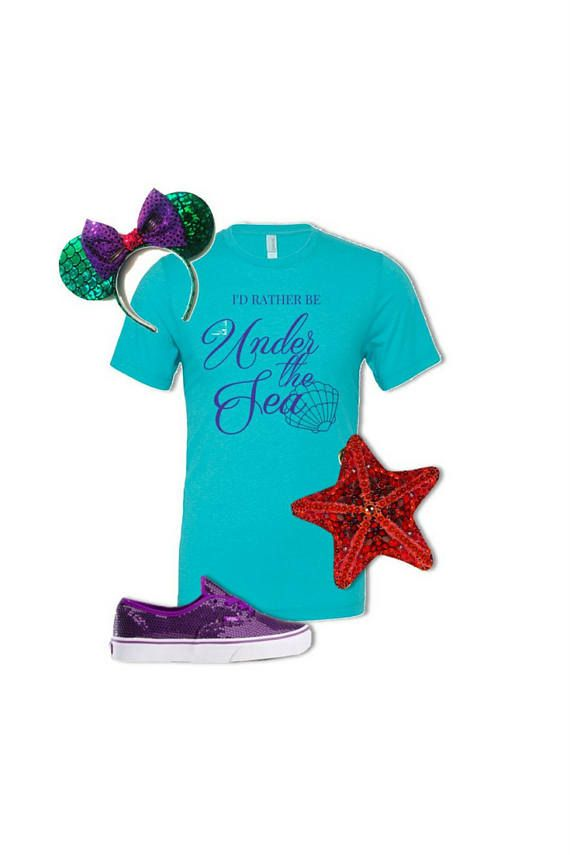 Disney Shirt - Under The Sea, Ariel Disney Shirt, XS - 2XL, Disney Family Shirt, Disney Vacation, Little Mermaid, Mermaid Gift, Ariel Shirt