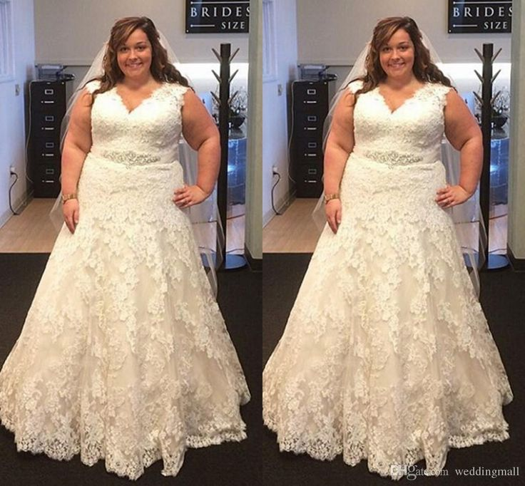 Lace Crystals 2016 Arabic Plus Size Wedding Dresses V Neck A Line Sash Floor Length Wedding Gowns Vintage Bridal Dresses Wedding Designers Wedding Dress Hire From Weddingmall, $305.53| Dhgate.Com