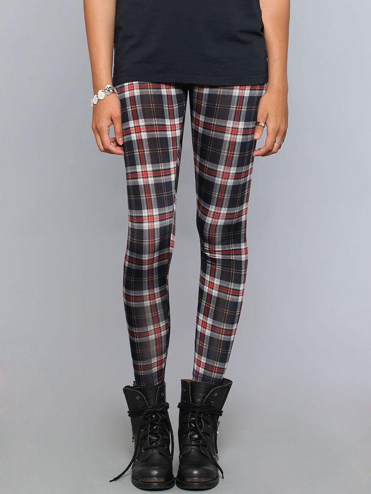 Nevermind Plaid Leggings - Black - Clothes | GYPSY WARRIOR  #