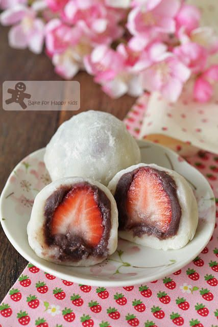 What is it? Sweet, chewy rice cake filled with strawberry and red bean paste.While traditional mochi contains just the red bean paste, this version adds a tart, sweet strawberry kick. They're a little more time- and labor-intensive than your typical dessert recipe, but there's also nothing funner to eat than a tender, chewy mochi. Recipe here.