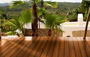 Bambus Terrassendielen in schöner Optik