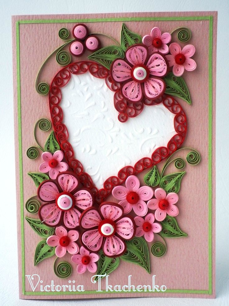 25 best ideas about Quilling cards – Valentine Card for Lover