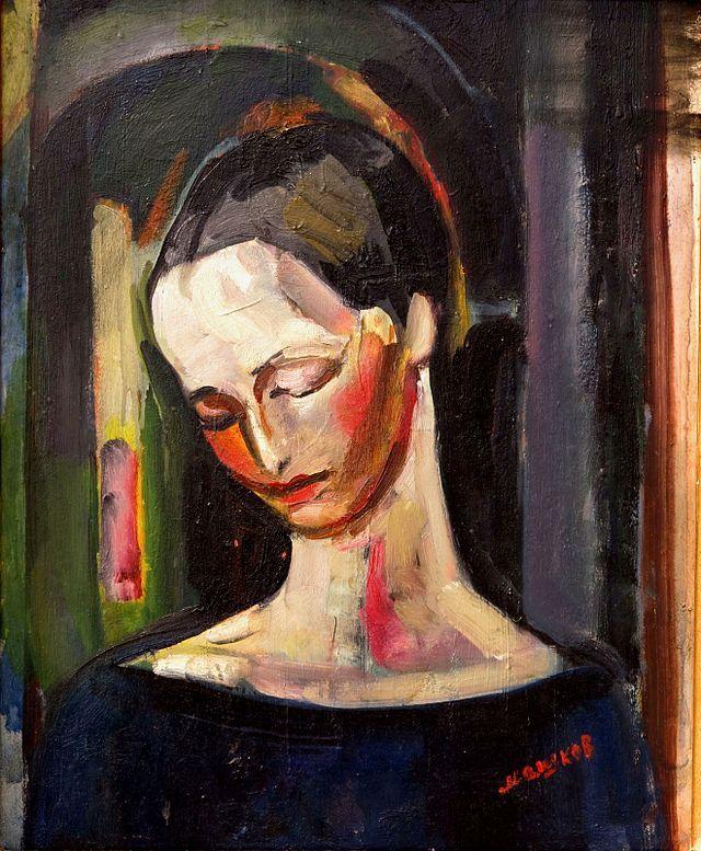 Portrait of woman (1919) Ilyá Ivánovich Mashkov (Илья́ Ива́нович Машко́в. Unión Soviética. Rusia, 1881-1944)