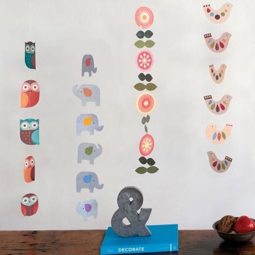 Owl Paper Mobile - Petit Collage