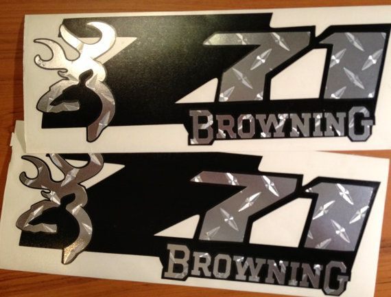 Best Decals Images On Pinterest Truck Decals Chevy Girl And - Browning custom vinyl decals for trucks