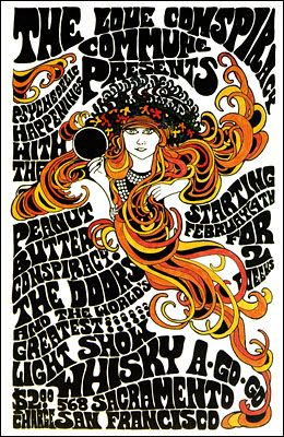 The Doors Whiskey-A-Go-Go Concert Poster pinned by playlisthq.com