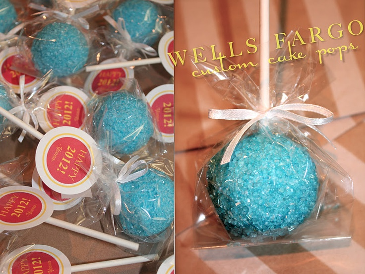Her.BOLD.Events: {Custom Cake Pop Favors} WELLS FARGO Home Mortgage