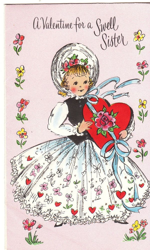 88 best sisters images on pinterest halloween ideas male witch vintage valentine mid century girl and candy box a valentine for a swell sister m4hsunfo Choice Image