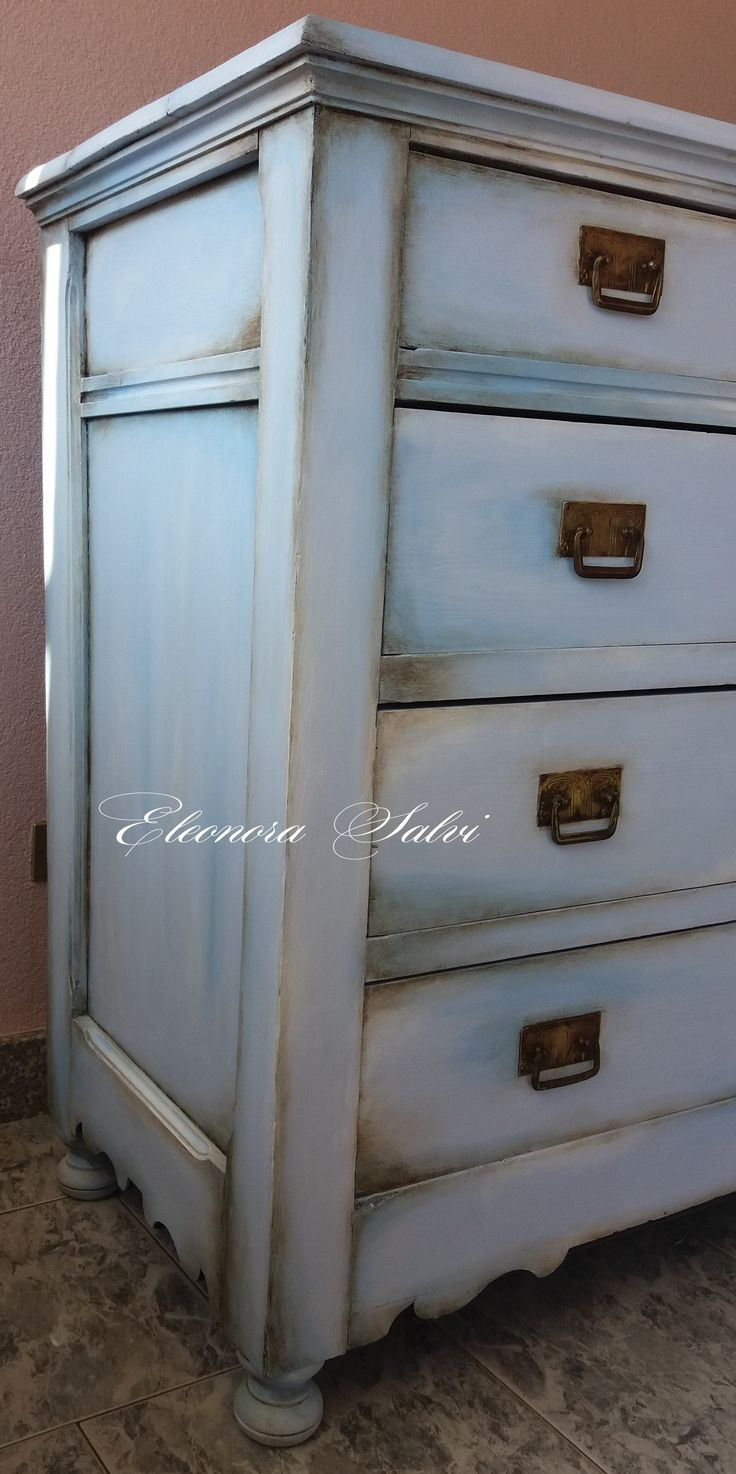... pittura a gesso painting paint shabby chic chic chippy logorato usura